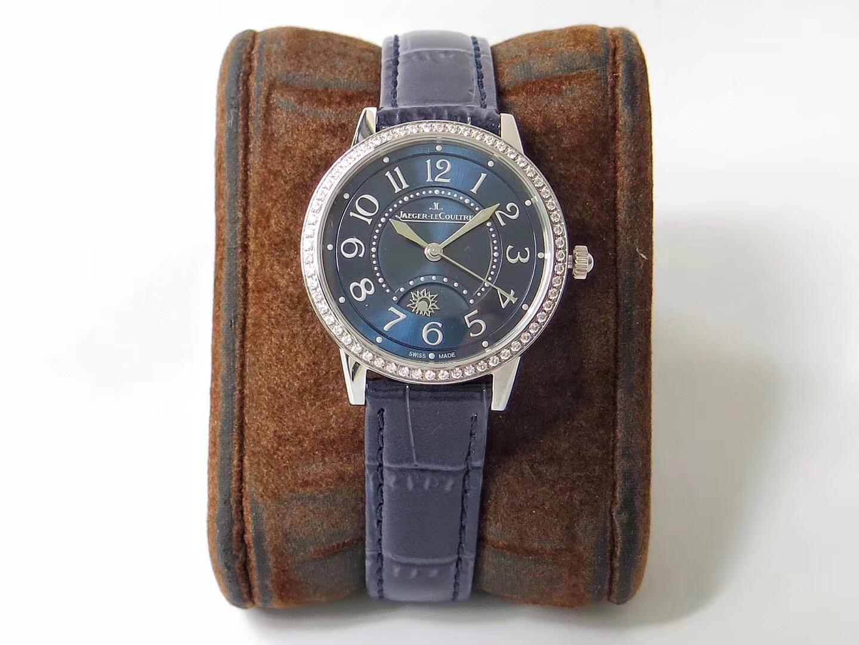 ZF厂积家约会系列蓝盘钻圈3468480腕表、真假对比、能不能乱真看看就知道