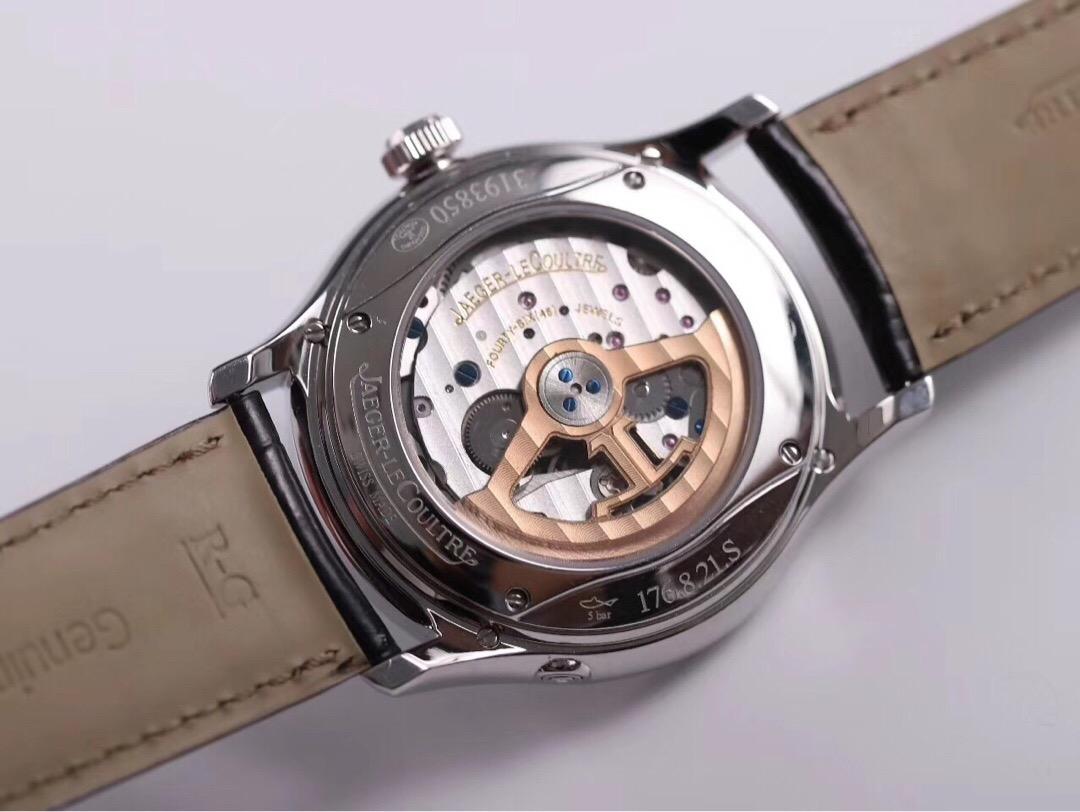测评V9厂积家大师1308470万年历腕表、真假细节对比